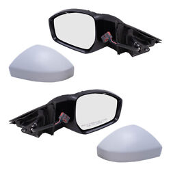 Pair Set Power Mirrors W/ Heat Signal Temperature Sensor For 17-20 F-pace