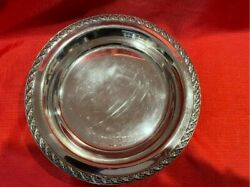Wm Rogers And Son Silver Plate Spring Flower 11 Footed Serving /bread Tray 2060
