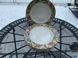 4 Salad Plates In Jacobean By Royal Doulton Everyday Excellent Condition 8
