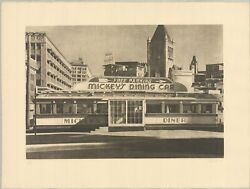 John Baeder Mickeyand039s Dining Car Signed 22.25 X 29.75 Etching 1979 Neutral