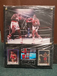 Larry Holmes Autograph Vs Muhammad Ali Custom Plaque Boxing - Made In Usa