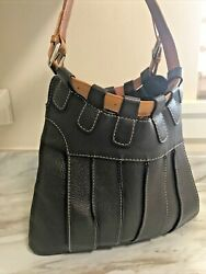 Tusk Leather Shoulder Bag Italian NEW Chocolate Brown Excellent Condition $399.28
