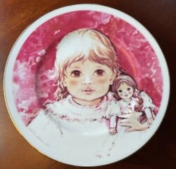 Art Collection By Arklow Ireland Girls With Doll Plate
