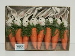 Begonia Market Easter Bunny Head On Carrot Garland Home Decor 6 Ft