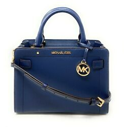 Michael Kors Karla Small EW Satchel Crossbody Leather Handbag $348 $98.97