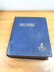 Vintage 1955 Holy Bible Red Letter Masonic Edition Cyclopedic Indexed - Hertel