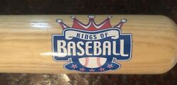 Cooperstown Custom Wood Bat Kings Of Baseball Special Edition Ny Made In Usa Mlb