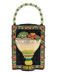 Victorian Trading Co Mary Frances Lime On The Side Cocktail Glass Beaded Purse