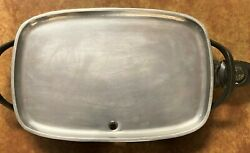 Vintage 18x12andrdquo Farberware Immersible Electric Griddle Skillet Warming Tray 260