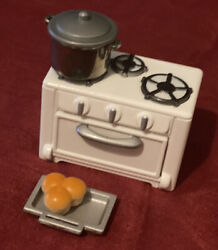 Sylvanian Families Vantage Kitchen Cooker Stove Oven/baking Tray And 🥘