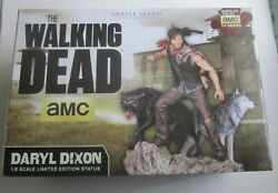 Gentle Giant Walking Dead Daryl Dixon Andwolves Limited Edition Statue Signed Coa
