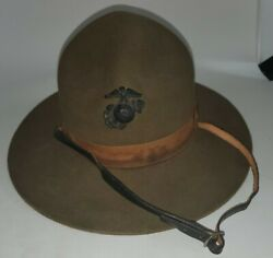 Wool Military Campaign Hat Drill Instructor Hat Mountie Ranger 6 3/4