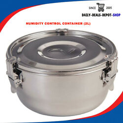 2 Liter Humidity Controlled Food Storage Stash Container Smell Proof Airtight