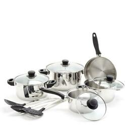 Old Dutch Cookware Set Stainless Steel Dishwasher-safe Built-in Handles 12-piece