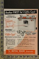 1954 Toy Ad Little Lady Oven Range Kitchen Electric Metal Ware Two Rivers Witd79