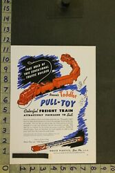 1949 Toy Ad Freight Train Pull-toy Toddler Engineer Nosco Plastics Erie Pa Tb05