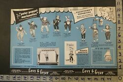 1950 Peter Puppet Marionette Levy Fryer Punch Judy Pinocchio 2-pg Toy Ad Tu18