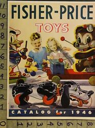 1946 Fisher Price Preschool Education Teddy Snoopy Donald Duck 2-pg Toy Ad Ts36