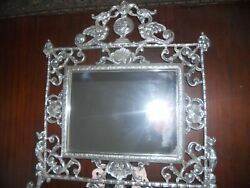 Mirror Sliver Stand On Table L X W 13x13 Square Shape Crown Styleandnbsp