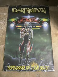 1986 Iron Maiden Somewhere On Tour 86/87 Poster 60andrdquox40andrdquo Large