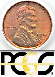 1914 Pcgs Pr65 Rd Mintage 1,365 Rare Key Red Lincoln Wheat Cent █ Matte Proof 1c