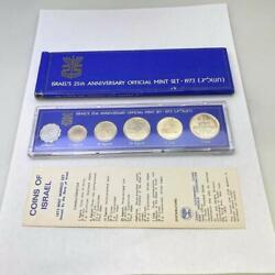 Israeland039s 25th Anniversary Official Mint Coin Set 1973 Uncirculated