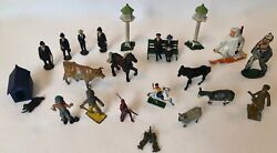 See List Vintage Die Cast Lead Metal Toy Figures 1940and039s-60s 23pc Lot England