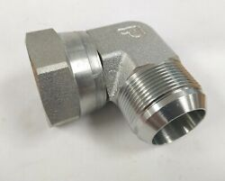 Parker 1-1/2 Jic To Fjic Swivel Compression 90anddeg Steel Elbow 6500-24-24