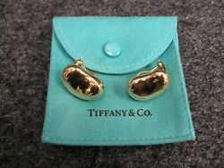 And Co. Elsa Peretti 18kt Yellow Gold Clip-on Bean Earrings