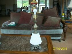Ef And Ef Industries Electric Vtg Hollywood Regency White Bubble Table Lamp 338