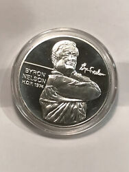 1974 Byron Nelson Pga Golf Tour World Hall Of Fame 1 Troy Oz Silver Coin