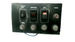 Boat Dash Accessory Switch/fuse Panel - Used