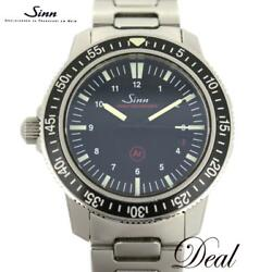 Sinn Ezm3 603.ezm3 Watch Used Menand039s Automatic Black Dial Silver Stainless