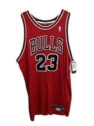 Micheal Jordan Bulls Jersey. Red New Vintage Authentic