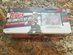 2011 Topps Football Factory Sealed Complete Set W/cam Newton Rookie Patch Card