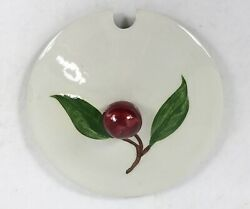 Vintage Orchard Ware Cherry Gravy Boat Lid Cover Only 4-1/4 Spoon Cut Out
