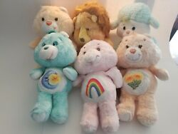 Vintage 1980's Kenner Care Bear Plush Stuffed Animals 13 Lot Of 6 Pre-owned
