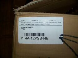 Micromatic Pass Thru Tower 12 Faucets Polished Stainless Steel 47w W/4dia Tube