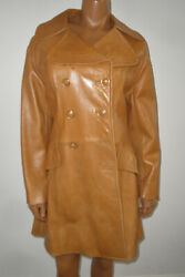 Womenand039s Vtg 1970 Skin Gear Genuine Leather S Brown Jackettrench Coatfor Repair