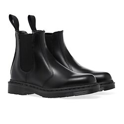 Dr. Martens Black 2976 Mono Chelsea Boots Black Smooth Leather 25685001 All Size