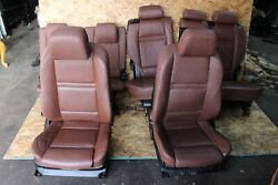 Bmw E70 X5 Front Rear Sport Seat Seats Set 2nd 3rd Row Zimt Brown Heated Oem