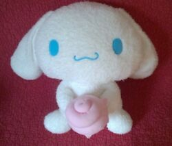 12quot; by 17quot; Sanrio CINNAMOROLL WHITE DOG WITH PASTRY PINK ICING plush stuffed