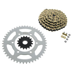 Cz Sdzz Gold X-ring Chain And Sprocket 16/47 520-120l 2009-2014 Yamaha Yzf-r1/le