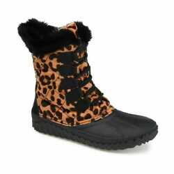 Womenand039s Journee Collection Womenand039s Comfort Foam Powder Winter Boot Leopard