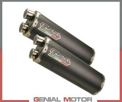 2 Exhaust Mufflers Gpr Dual Carbon Approved Ducati Monster S4 2001 2003