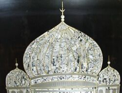 Taj Mahal Lacquer Screen Panels Mother-of-pearl Inlaid E. 20th Century China
