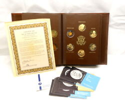 24 Pc- Lincoln Mint Jfk John Kennedy Gold Sterling Silver Coin Medal Series Set