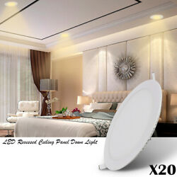 20x 18w Ultra-thin Led Recessed Ceiling Panel Down Light Natural White Downlight