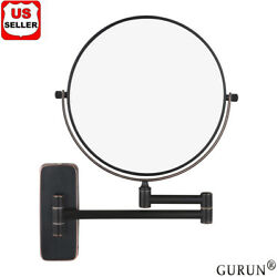 Gurun 8and039and039 Oil-rubbed Bronze 10x Magnifying Double Sided Wall Mount Makeup Mirror