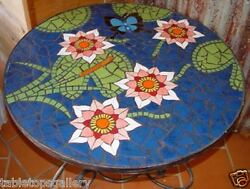 2and039x2and039 Marble Side Coffee Table Top Inlay Stone Mosaic Marquetry Art Work H1464